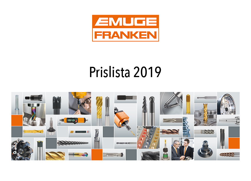 EMUGE-FRANKEN – Prislista för 2019